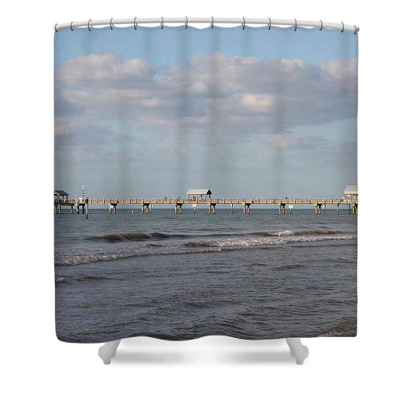 Clearwater Shower Curtain featuring the photograph Clearwater Pier 69 by Christiane Schulze Art And Photography
