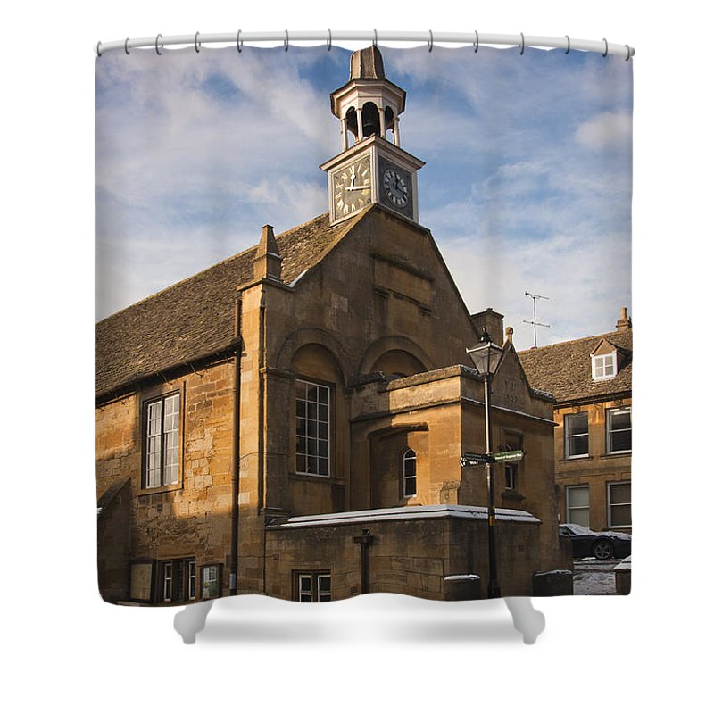 Britain Shower Curtain featuring the photograph Clock Tower by Andrew Michael