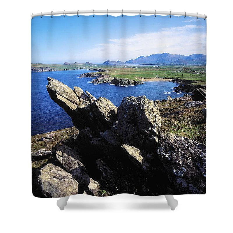 Co Kerry Shower Curtain featuring the photograph Clogherhead, Co Kerry, Dingle by The Irish Image Collection