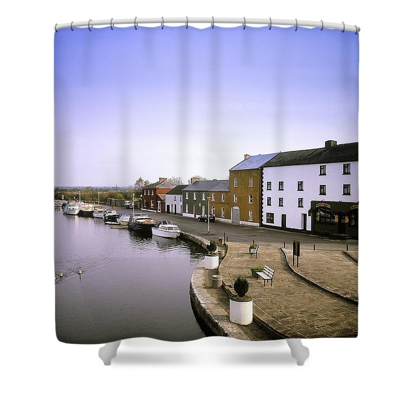 Architecture Shower Curtain featuring the photograph Cloondara, Co Longford, Ireland Town At by The Irish Image Collection