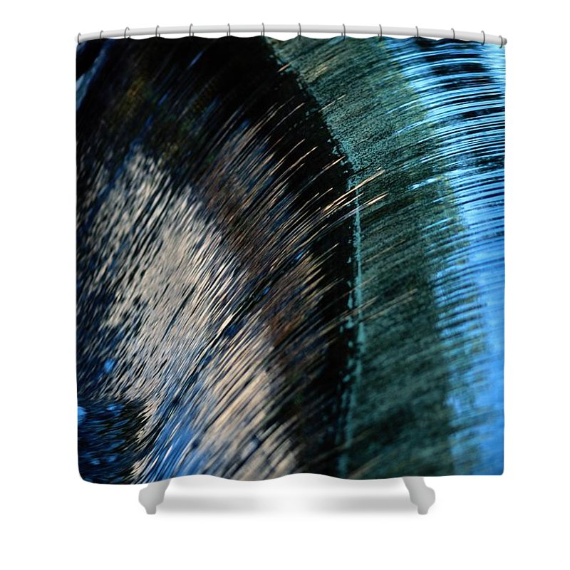 Superior National Forest Shower Curtain featuring the photograph Close View Of A Sheet Of Water Pouring by Raymond Gehman