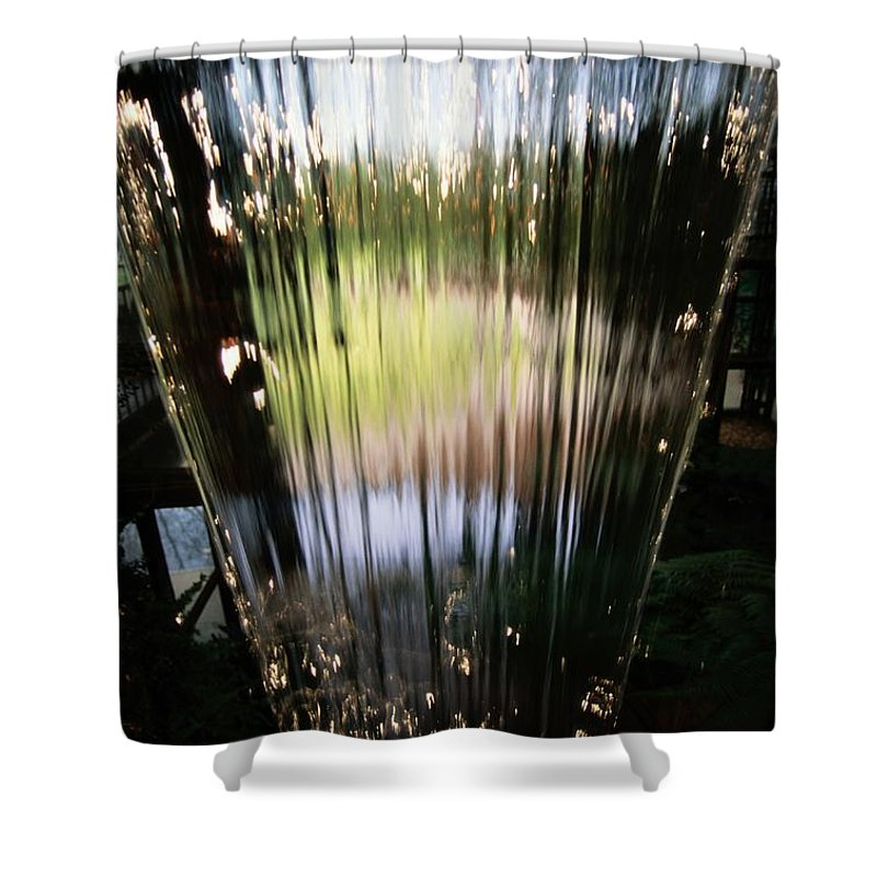 Callahan Gardens Shower Curtain featuring the photograph Close View Of A Sheet Of Water by Raymond Gehman