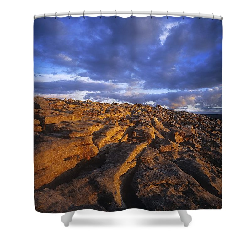 Cloud Shower Curtain featuring the photograph Cloudscape Over A Landscape, The by The Irish Image Collection
