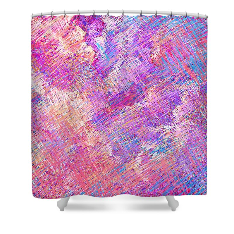Clouds Shower Curtain featuring the digital art Cloudy Nights by Rachel Christine Nowicki