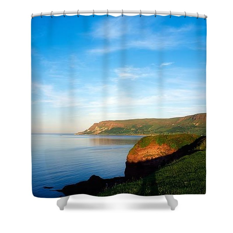 Archeology Shower Curtain featuring the photograph Co Antrim, Glenariff Or Waterfoot by The Irish Image Collection