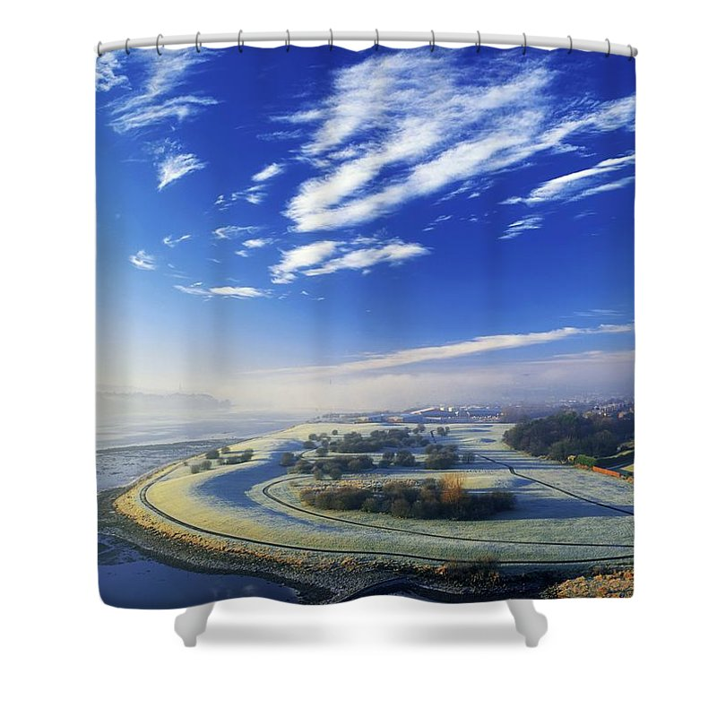 Beauty In Nature Shower Curtain featuring the photograph Co Derry, Ireland High Angle View Of by The Irish Image Collection
