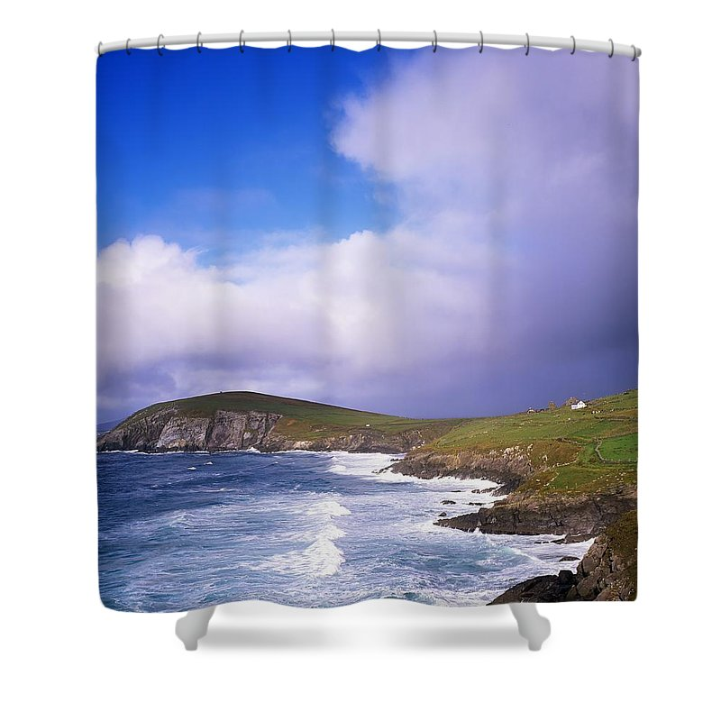Co Kerry Shower Curtain featuring the photograph Co Kerry - Dingle Peninsula, Dunmore by The Irish Image Collection