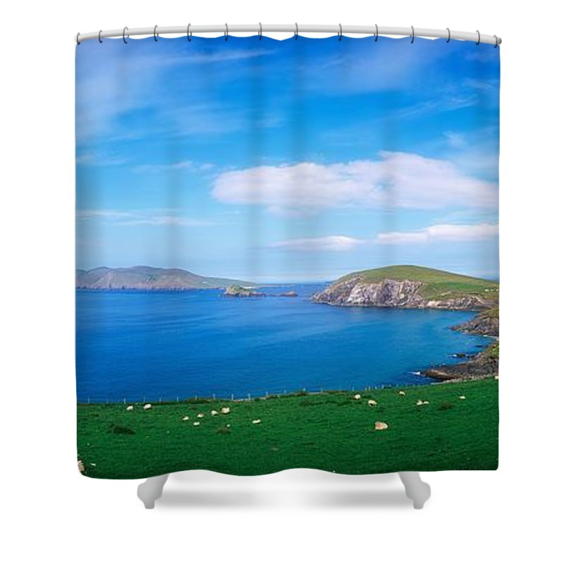 Coast Shower Curtain featuring the photograph Co Kerry, Dingle Peninsula, Slea Head & by The Irish Image Collection
