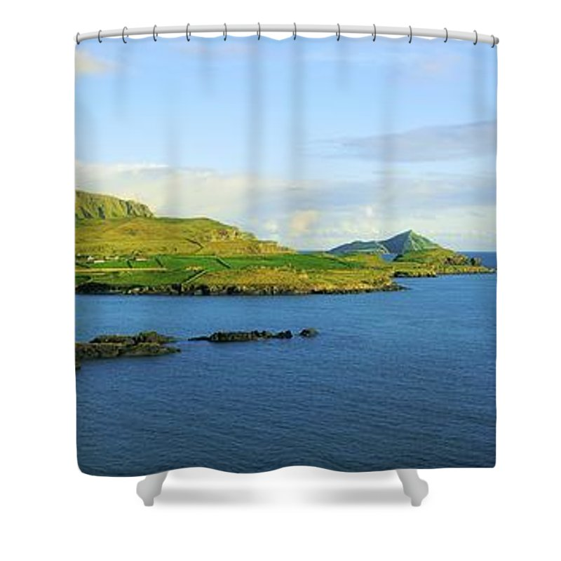 Calm Shower Curtain featuring the photograph Co Kerry, Ireland Landscape From by The Irish Image Collection