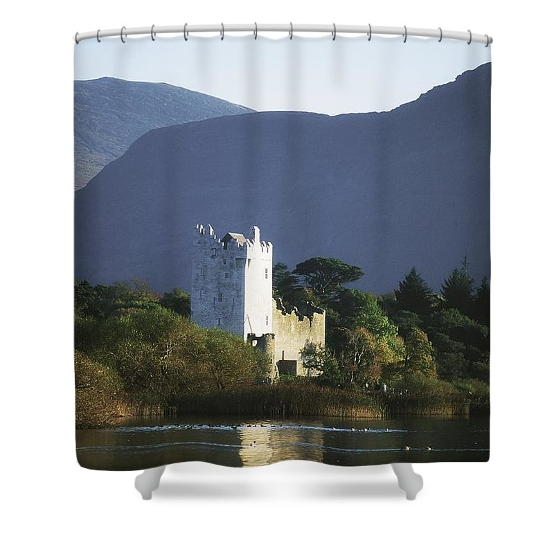 Architectural Heritage Shower Curtain featuring the photograph Co Kerry, Killarney, Ross Castle by The Irish Image Collection