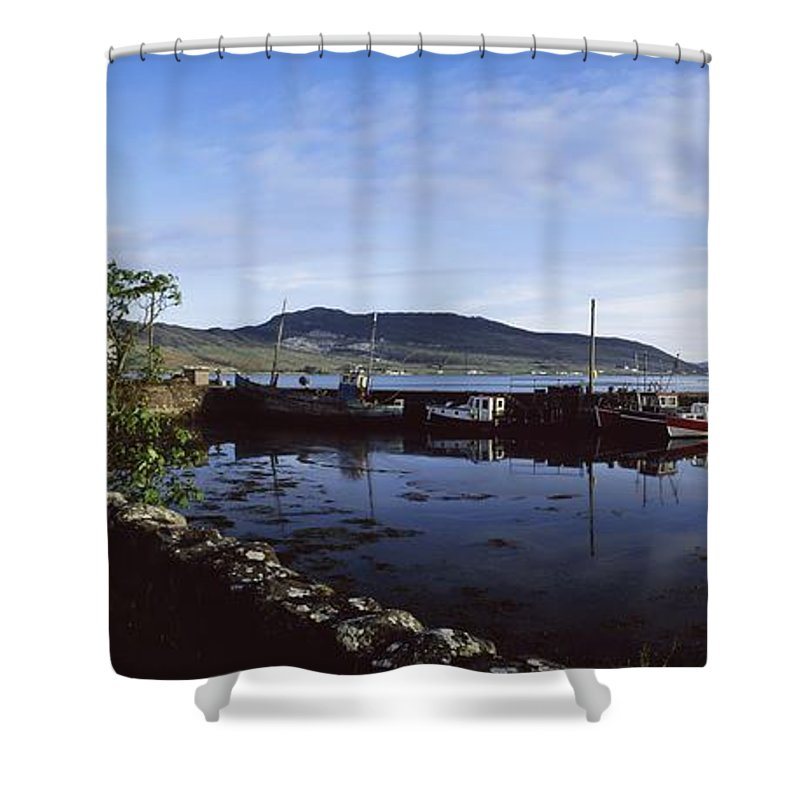 Blue Sky Shower Curtain featuring the photograph Co Mayo, Achill Sound by The Irish Image Collection