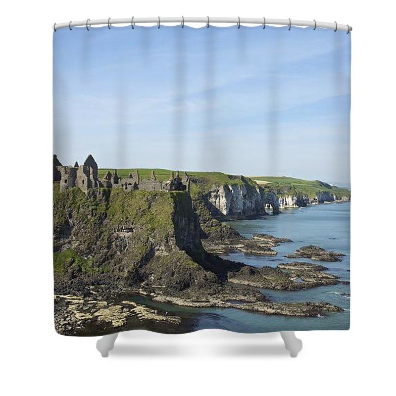 Horizon Shower Curtain featuring the photograph Coastal Seascape by Patrick Swan