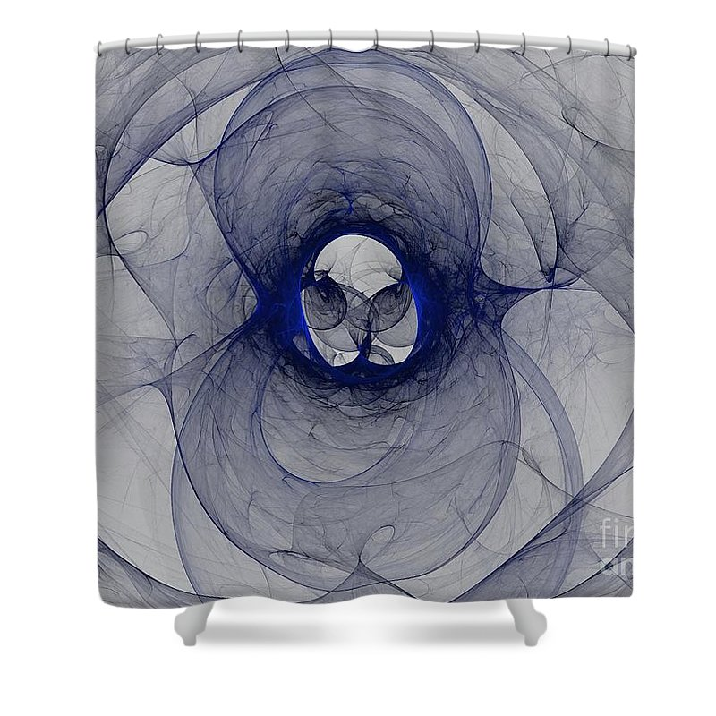 Apophysis Shower Curtain featuring the digital art Cobalt by Kim Sy Ok
