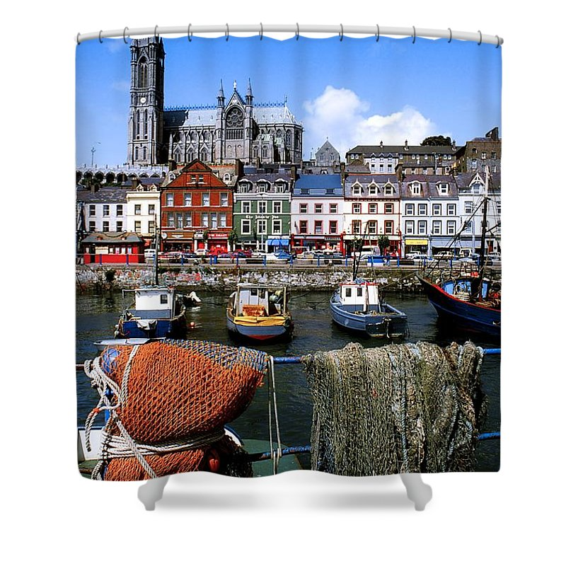 Attractions Shower Curtain featuring the photograph Cobh, Co Cork, Ireland, Cobh Cathedral by The Irish Image Collection