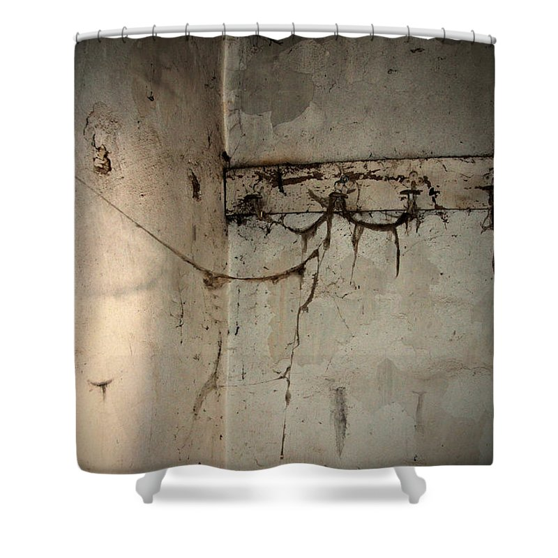 Cobweb Shower Curtain featuring the photograph Cobwebs On The Clothes Hook by RicardMN Photography