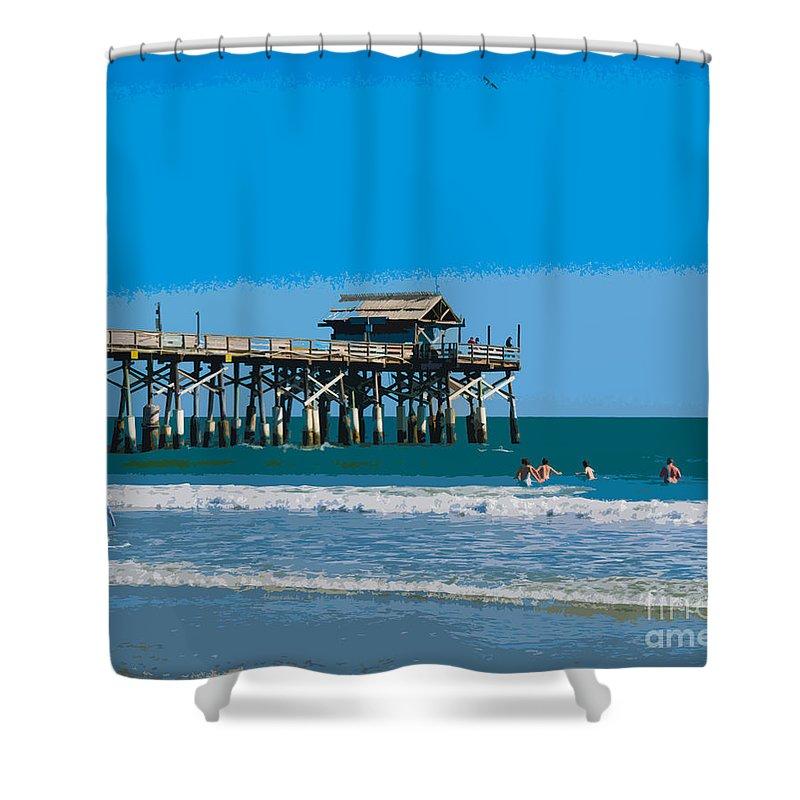 Cocoa Beach Pier Florida Shower Curtain For Sale By Allan Hughes
