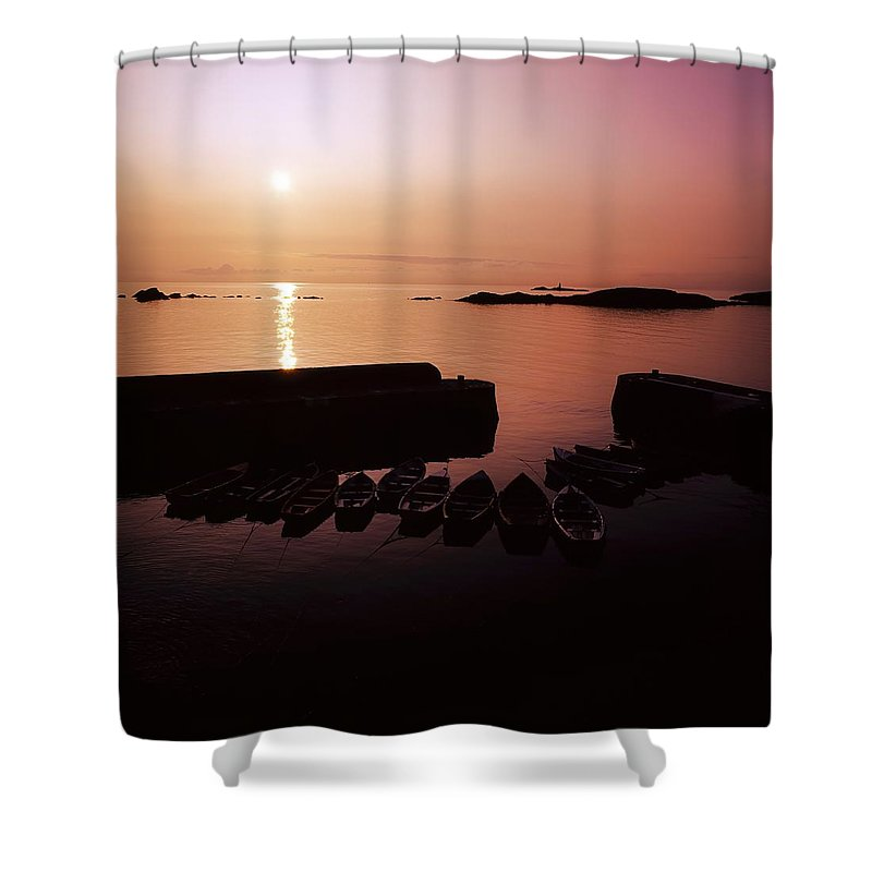 Beauty In Nature Shower Curtain featuring the photograph Coliemore Harbour, Co Dublin, Ireland by The Irish Image Collection