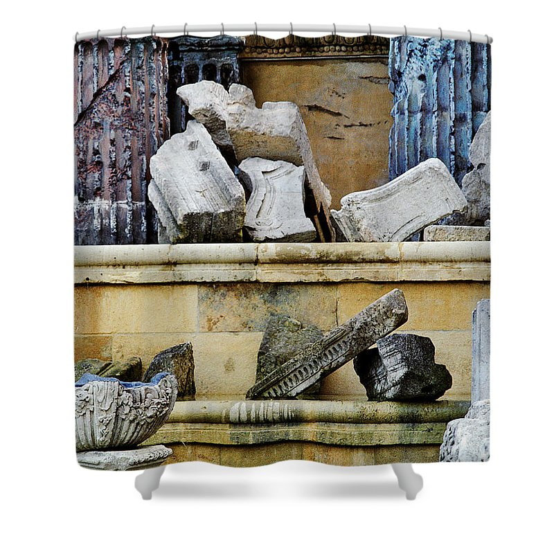 Artifacts Shower Curtain featuring the photograph Collection Of Artifacts Number 2 by Greg Matchick
