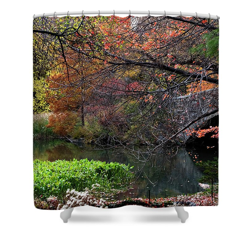 New York City Shower Curtain featuring the photograph Color Splash In Central Park by Lorraine Devon Wilke