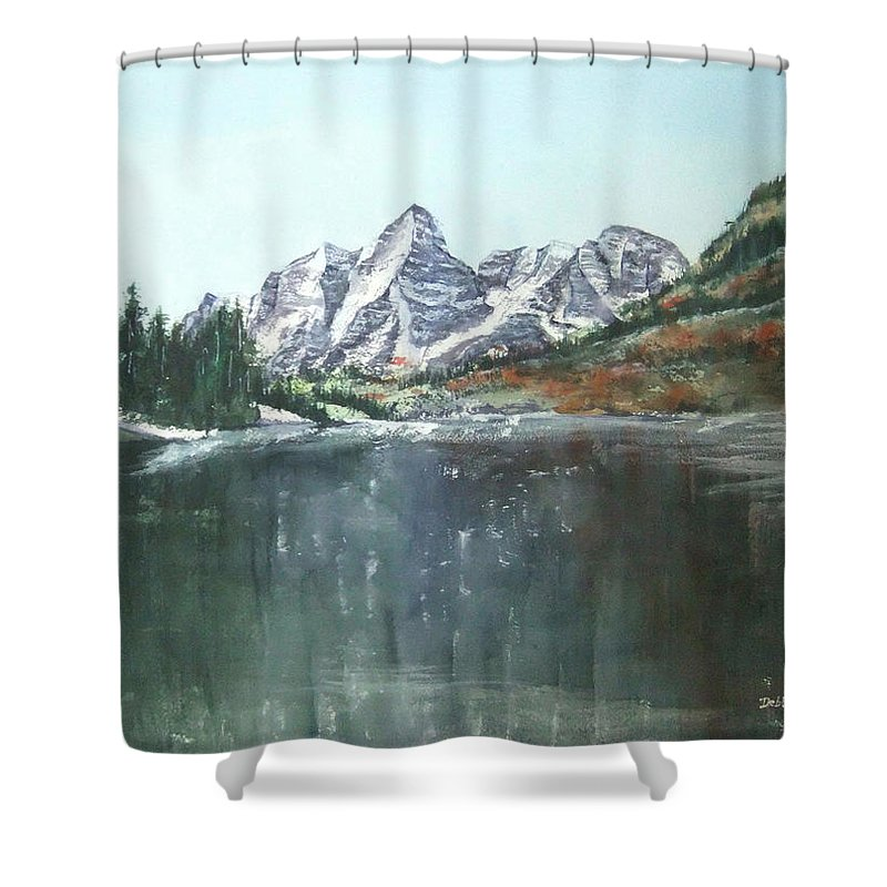 Watercolor Landscape Shower Curtain featuring the painting Colorado Beauty by Debbie Lewis