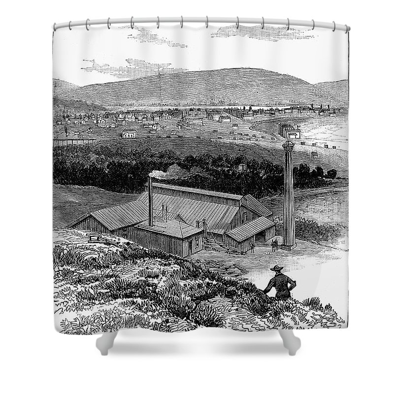 1883 Shower Curtain featuring the photograph Colorado: Durango, 1883 by Granger