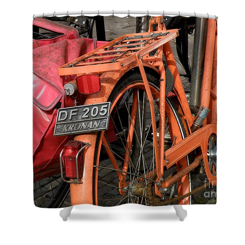 Bikes Shower Curtain featuring the photograph Colorful Dutch Bikes by Lainie Wrightson