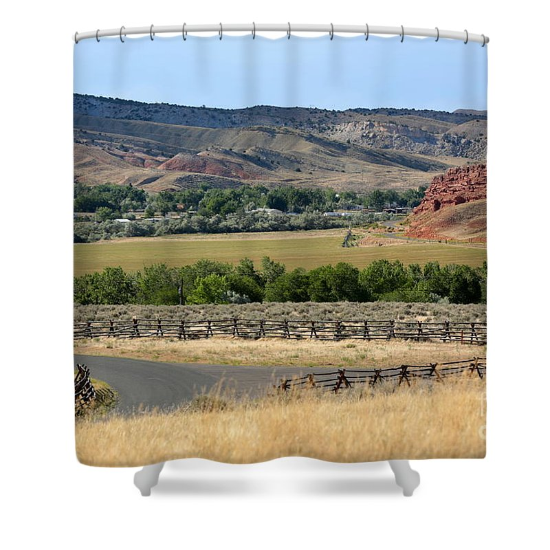 Wyoming Shower Curtain featuring the photograph Colorful Hills Of Wyoming by Carol Groenen