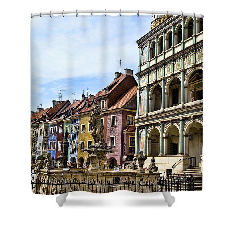 Posnan Shower Curtain featuring the photograph Colorful Posnan by Jon Berghoff