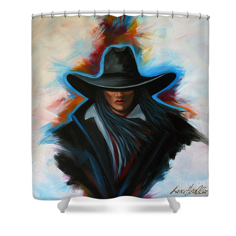 Colors Shower Curtain featuring the painting Colors Of Rain by Lance Headlee