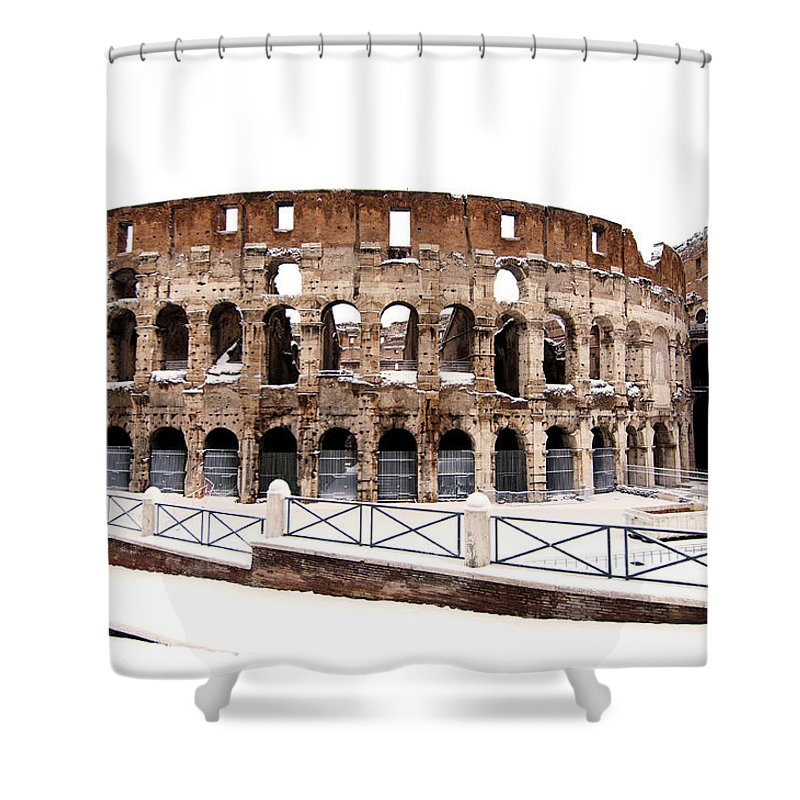 Colosseum Shower Curtain featuring the photograph Colosseum by Fabrizio Troiani