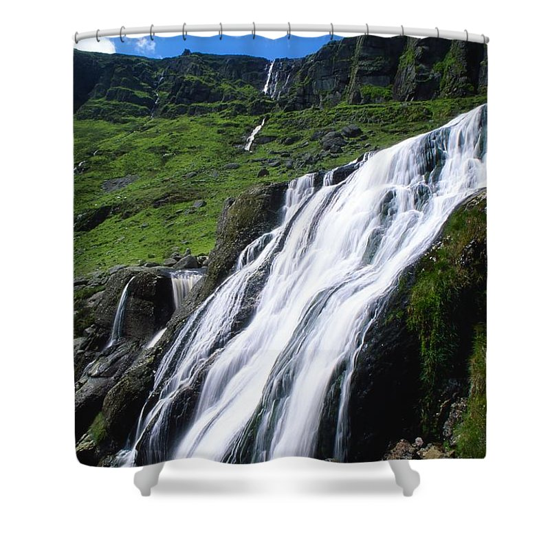 County Waterford Shower Curtain featuring the photograph Comeragh Mountains, County Waterford by Richard Cummins
