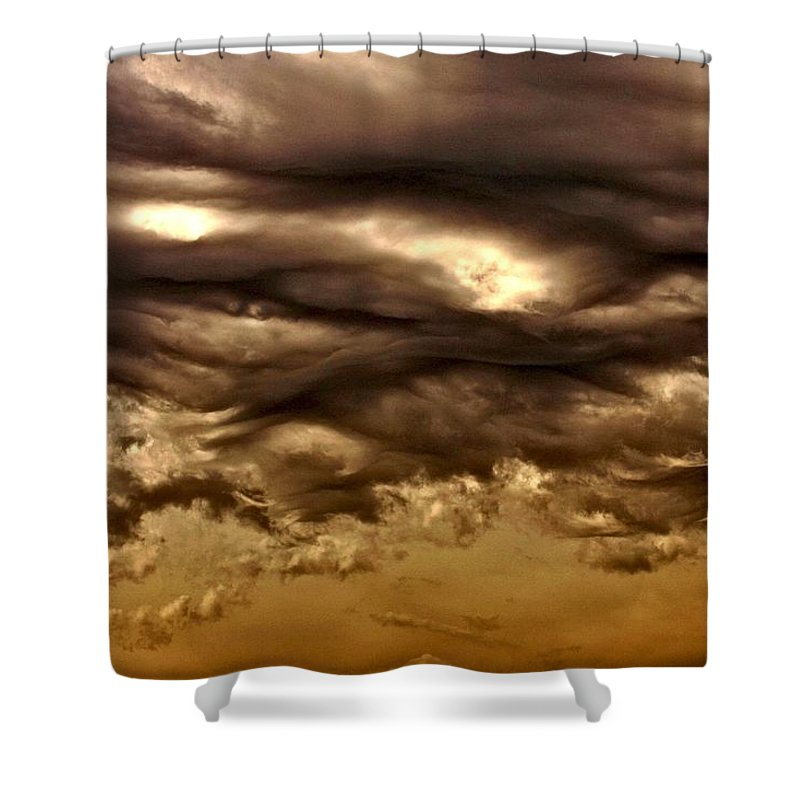 Clouds Shower Curtain featuring the photograph Coming Storm by One Rude Dawg Orcutt