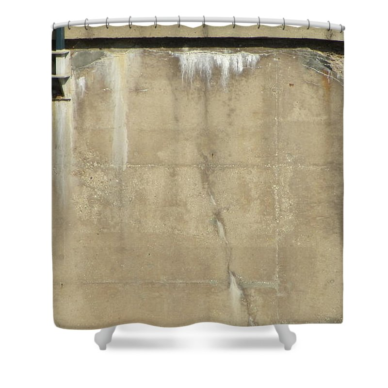 Concrete Shower Curtain featuring the photograph Concrete And Metal by Anita Burgermeister
