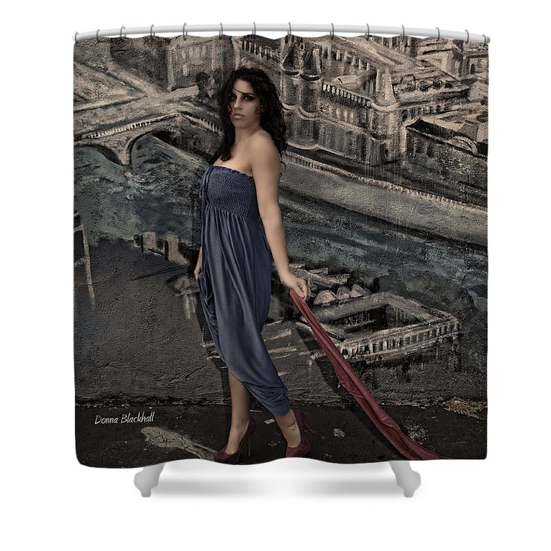 Woman Shower Curtain featuring the photograph Concrete Velvet 1 by Donna Blackhall