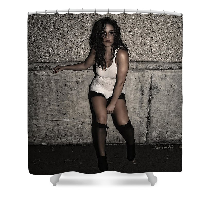 Woman Shower Curtain featuring the photograph Concrete Velvet 26 by Donna Blackhall