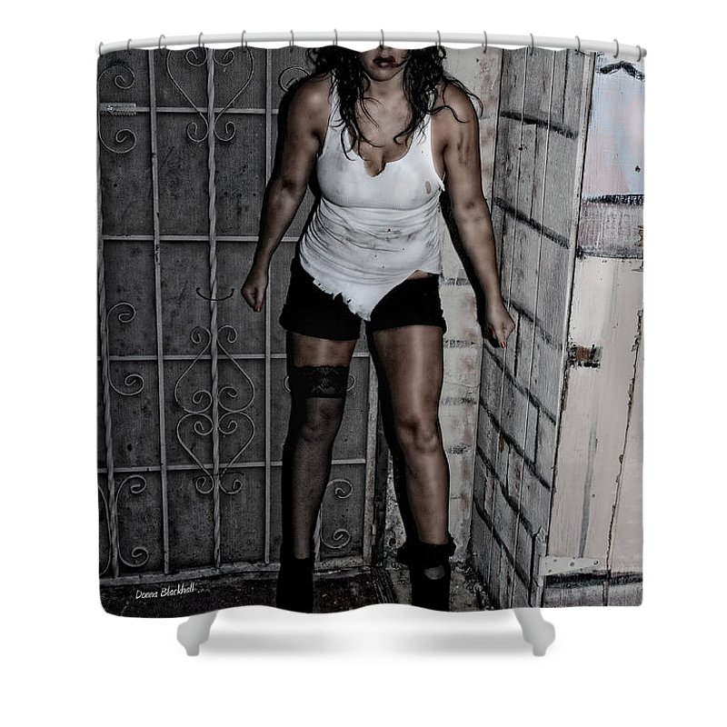 Woman Shower Curtain featuring the photograph Concrete Velvet 39 by Donna Blackhall