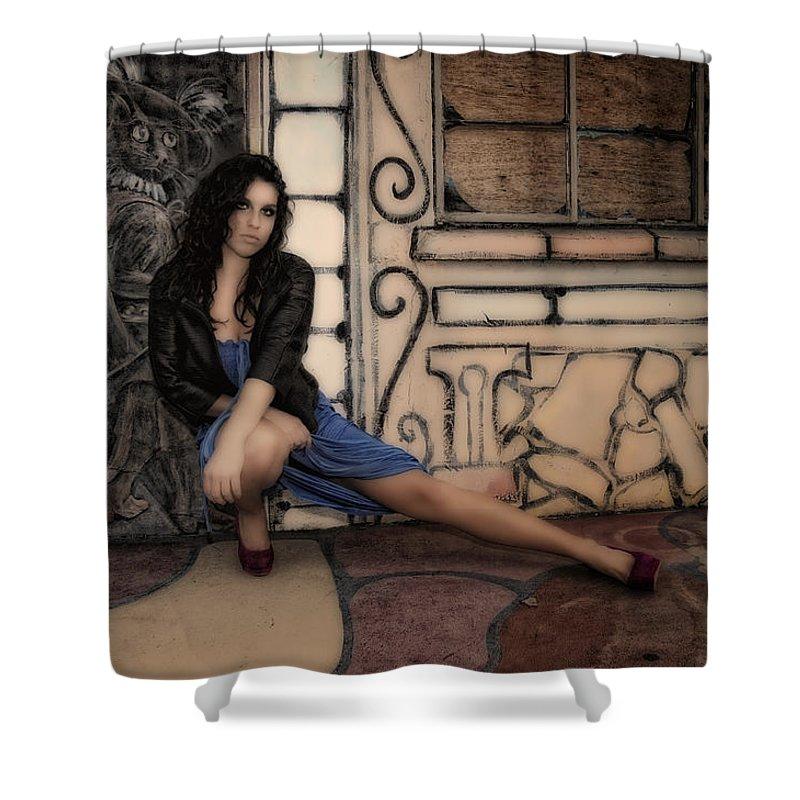 Woman Shower Curtain featuring the photograph Concrete Velvet 7 by Donna Blackhall