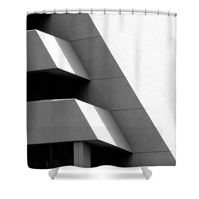 Architectural Shower Curtain featuring the photograph Concretely Abstract View by Vicki Pelham