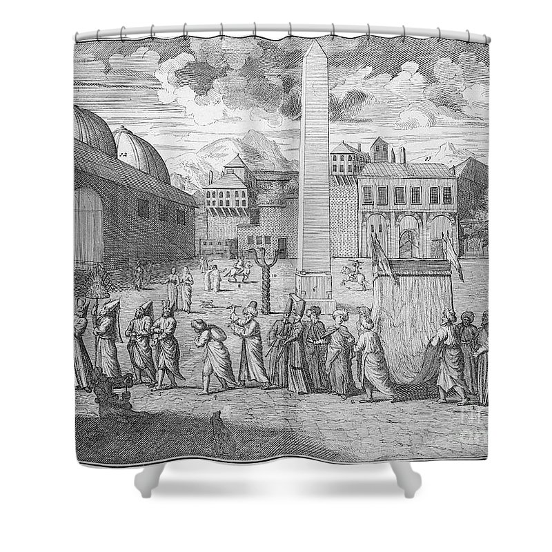 1727 Shower Curtain featuring the photograph Constantinople, 1727 by Granger