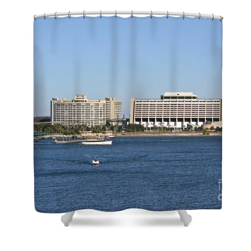 Hotel Shower Curtain featuring the photograph Contemporary Hotel by Carol Bradley