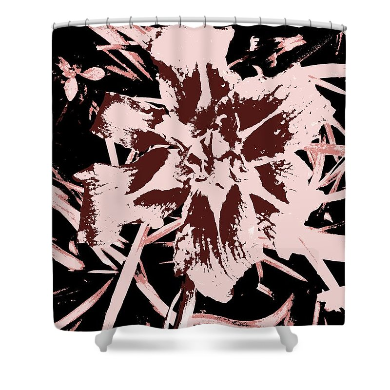 Abstract Shower Curtain featuring the painting Contrasting by Renate Nadi Wesley