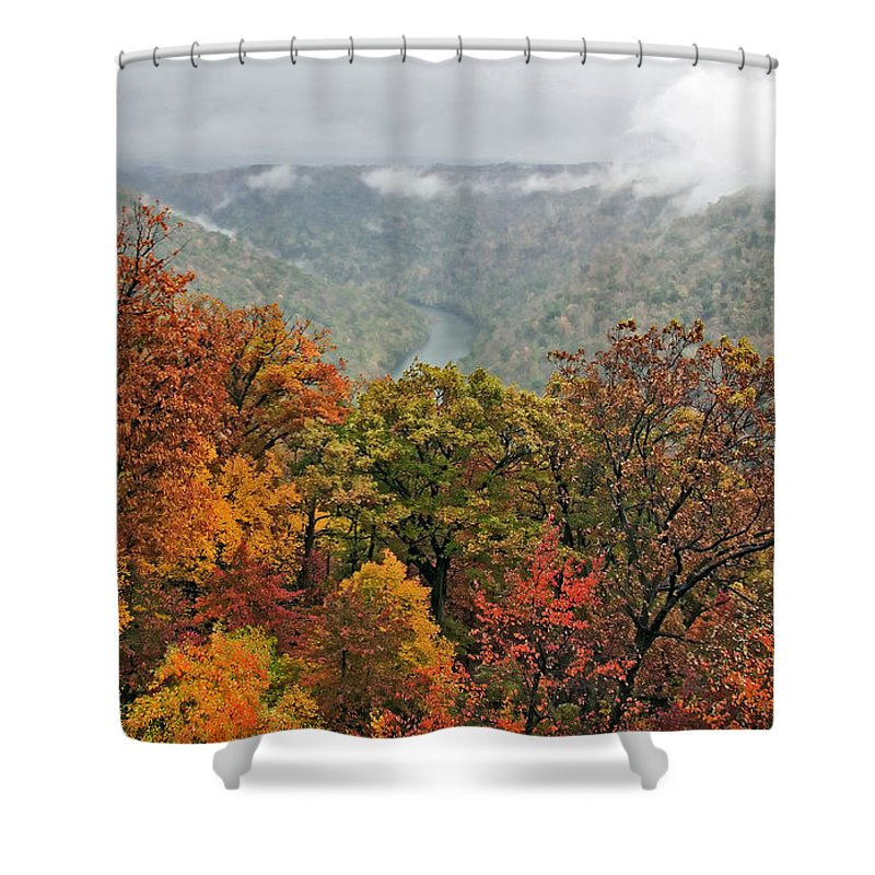 Fall Shower Curtain featuring the photograph Cooper's Rock West Virginia by Kathleen K Parker