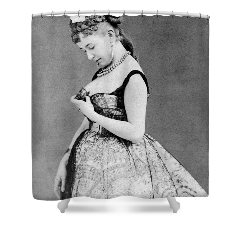 19th Century Shower Curtain Featuring The Photograph Cora Pearl C1835 1886 By Granger