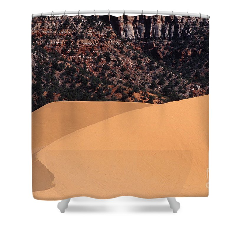 Bronstein Shower Curtain featuring the photograph Coral Pink Sand Dunes by Sandra Bronstein