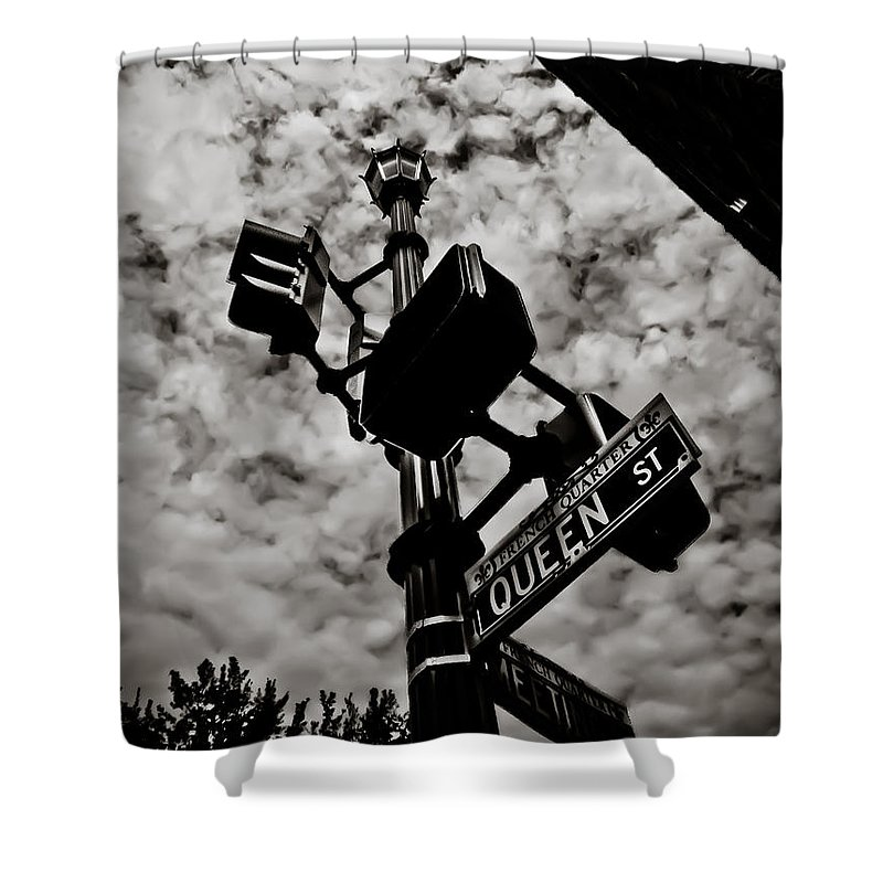 Street Shower Curtain featuring the photograph Corner Of Queen by Jessica Brawley