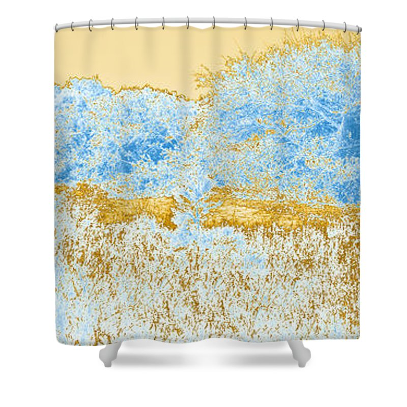 Corolla Shower Curtain featuring the photograph Corolla Horses Rev4 by Paulette B Wright