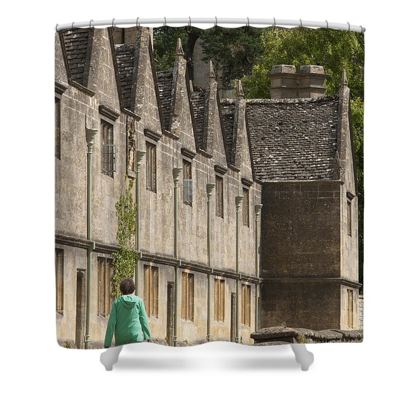 Almshouses Shower Curtain featuring the photograph Cotswold Almshouses by Andrew Michael