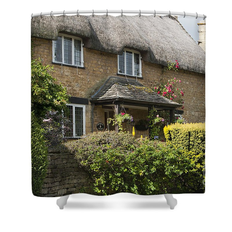 2011 Shower Curtain featuring the photograph Cotswold Thatched Cottage by Andrew Michael