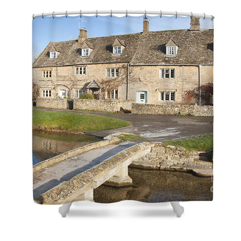 Britain Shower Curtain featuring the photograph Cotswold Village Of Lower Slaughter by Andrew Michael