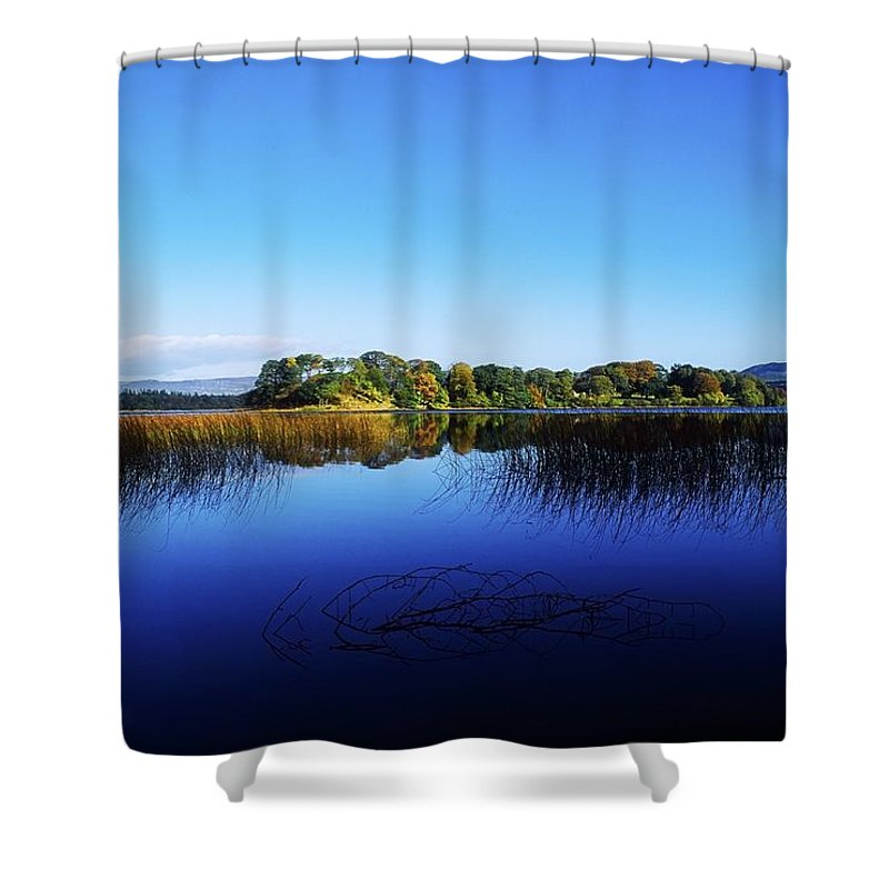 Beauty In Nature Shower Curtain featuring the photograph Cottage Island, Lough Gill, Co Sligo by The Irish Image Collection